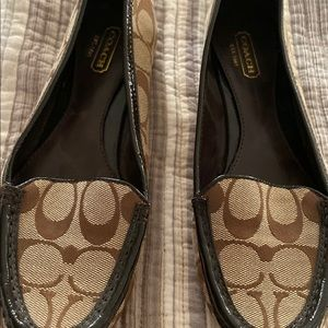 Coach signature brown loafers